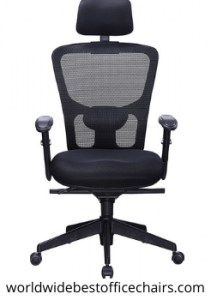 Office Factor Black Mesh Executive Chair