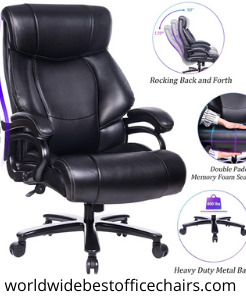 Reficcer High Back Big & Tall Leather Neck Office Chair