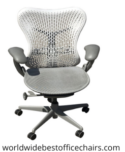 Herman Miller Mira 2 Chair Fog with Studio White Frame